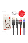 SUN GLOBAL WEAVE USB CABLE MICRO USB 3.1A