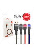 SUN GLOBAL WEAVE USB CABLE I PHONE 3.1A