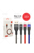 SUN GLOBAL WEAVE USB CABLE TYPE-C 3.1A