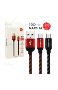 SUN GLOBAL WEAVE CABLE 3.1A MICRO USB