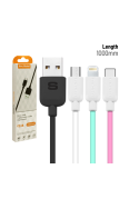 SGC63,64.65 S/G DATA CABLE MICRO USB 2.1A (Micro / iPhone / Type-C)