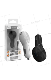 SUN GLOBAL 2 PORTS USB CAR CHARGER + CABLE (iPhone)