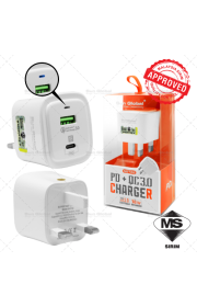 SUN GLOBAL PD+QC 3.0 CHARGER SIRIM APPROVED